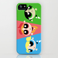 Powerpuff Girls iPhone Case by Danielle Mahaffey