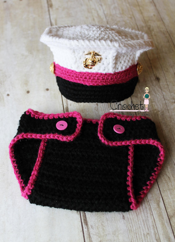 Crochet Marine Corps Dress Blues Cover From Crochetbypalm