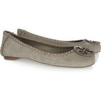 Tory Burch|Brushed-suede ballet flats|NET-A-PORTER.COM