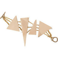 Arielle de Pinto|14-karat gold-vermeil shard bracelet|NET-A-PORTER.COM