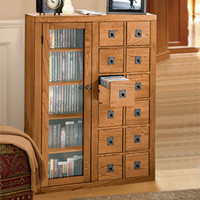 Mission Media Cabinet, CD Cabinet, DVD Storage | Solutions
