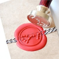 Scorpio Zodiac Constellation Gold Plated Wax Seal Stamp x 1