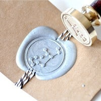 Virgo Zodiac Constellation Gold Plated Wax Seal Stamp x 1