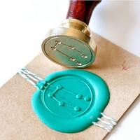 Gemini Zodiac Constellation Gold Plated Wax Seal Stamp x 1