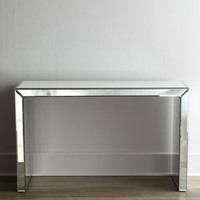 Brandy Mirrored Console Table