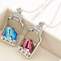 current bottle crystal transparent necklace
