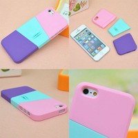 Three color mix case for iphone 4/4s
