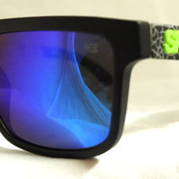 Spy Helm Sunglasses Spy+ Ken Block Livery Grey Green Spectra from Sunglass Mania