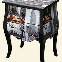 new york / london city print chest of drawers by foxbat boutique | notonthehighstreet.com