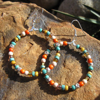 Southwestern - Boho Hoop Earrings
