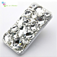 Free shipping iPhone 4 case, iPhone 4s case, case for iPhone 4 mobile case handmade: Bling crystal i93500601 (custom are welcome)