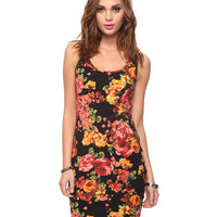 Floral Print Bodycon Dress | FOREVER21 - 2011409393