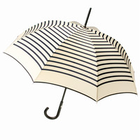 JEAN PAUL GAULTIER GUY DE JEAN STRIPED LONG UMBRELLA - IVORY/NAVY - JPG206 - MEN - JUST IN - JEAN PAUL GAULTIER