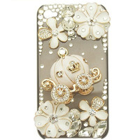 Free shipping iphone 4 case , iphone 4s case , case for Iphone 4 mobile Case handmade: Love pumpkin flower car i93760440 (custom are welcome)