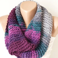 Infinity Scarf, Loop Scarf, Circle Scarf, Winter Cowl - Scarf multicolor Chunky