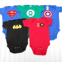 READY TO SHIP Onesuit Super Hero Deluxe Set by LindaSumnerDesigns