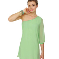 Mint Green Dress - Shift Dress