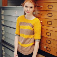 (99+) Cute hand-knitted 1980's mellow yellow striped jumper | Joanie's Junk | ASOS Marketplace
