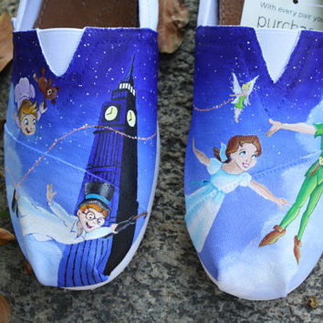 Peter Pan Original Custom Acrylic Painting by SomethingFromTheSun