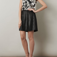 Pleated faux-leather skirt | Tibi | Matchesfashion.com