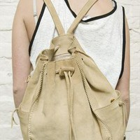 (99+) 90's suede leather drawstring rucksack | The Ragged Priest Vintage | ASOS Marketplace