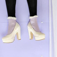 (99+) Ivory Classic Chunky Heels | THE WHITEPEPPER | ASOS Marketplace