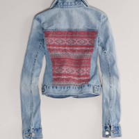 AE Embroidered Denim Jacket | American Eagle Outfitters