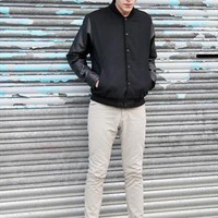 (99+) Black Baseball Jacket | THE WHITEPEPPER | ASOS Marketplace
