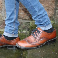 (99+) Vintage Brown Leather Brogues | headlock vintage | ASOS Marketplace