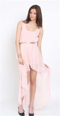 Love Peach Asymmetrical Maxi Dress- Love Hi Low Dresses- Love Dresses- &amp;#36;84.99