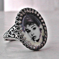 Audrey Hepburn Silver Ring Classic Breakfast at by FireGrog