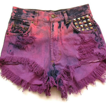 High waist shorts XS by deathdiscolovesyou on Etsy