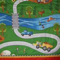 HandStitched Racetrack/Outdoor Interactive by HollyHomemadeGoodies