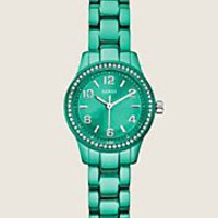 Diminutive Color Pop Watch - Torquoise | GUESS.com
