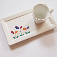 Flower Individual espresso cup set cup and saucer by ZuppaAtelier