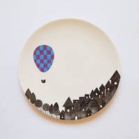 A night balloon Small wall plate Made to order by ZuppaAtelier