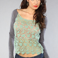 The Daisy Lace Front Top in Pistachio : Free People : Karmaloop.com - Global Concrete Culture