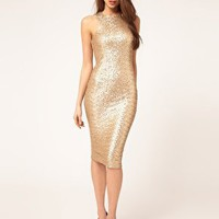 TFNC | TFNC Cut Out Racer Sequin Midi Dress at ASOS