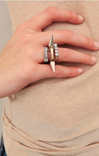 Joomi Lim - Three Rings With Spikes - NEW