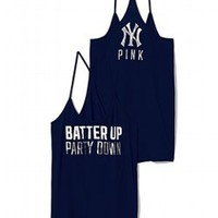 New York Yankees Skinny Racerback Tank - PINK - Victoria&#x27;s Secret