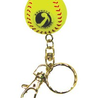 Markwort Mini Yellow Fastpitch Ball Keychain | Softball.com