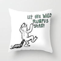 Where The Wild Things Are Throw Pillow by Lauren Draghetti | Society6