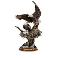 Eagle Cam-Inspired American Bald Eagle Sculpture Collection: Protectors Of The Nest