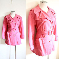60s Mod Pink Peacoat S / M by nichestyle on Etsy