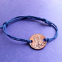 Lucky Penny Hand Stamped Hemp Bracelet