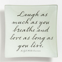 Ben's Garden 'Laugh As Much As You Breathe' Trinket Tray | Nordstrom