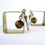 geometric brass square with tigers eye accent by freshgrammar