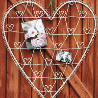 heart shaped wire card holder by ella james | notonthehighstreet.com