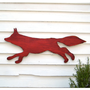 Fox Wooden Sign Red Running Large Scale Shabby by SlippinSouthern