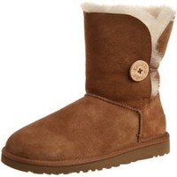 UGG Australia Womens Bailey Button Chestnut Boot - 8